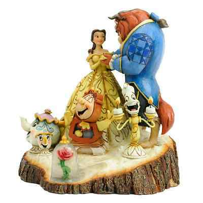 Disney Traditions Beauty And The Beast Christmas Gift Xmas Box Figurines Base