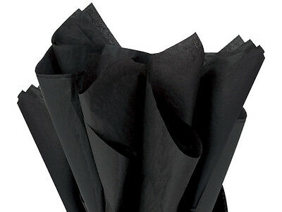 """BLACK Tissue Paper for Gift Wrapping 15""""x20"""" Sheets Eco-Friendly"""