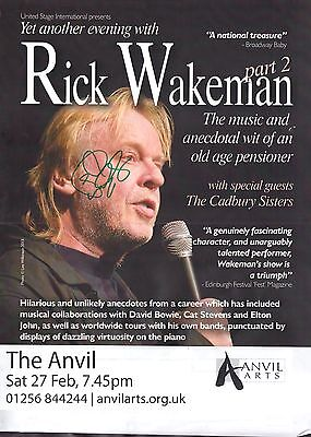 Rick Wakeman (Yes) - SIGNED Poster 2016