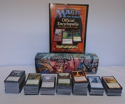 MTG 1000 Cards Mixed + 1998 Red Theme Storage Box & Official Encyclopedia