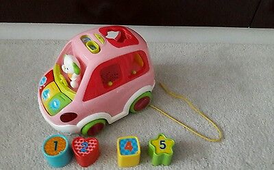 Vtech SORT AND LEARN CAR PINK Baby/Toddler Shape Sort Block Educational Toy BN