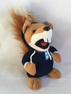"""Basil Brush Plush Soft Toy In A Blue Hoodie, 13"""""""