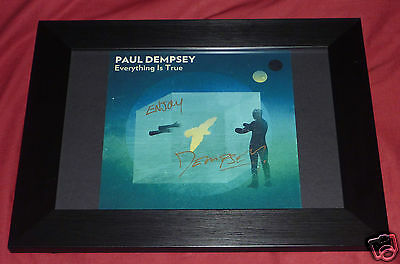 PAUL DEMPSEY Everything Is True SIGNED AUTOGRAPHED ARTWORK  something for kate