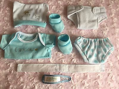 """Berenguer Baby Boy Outfit Fits 12-14"""" Doll Clothes Top Panties Nappy Bootees etc"""
