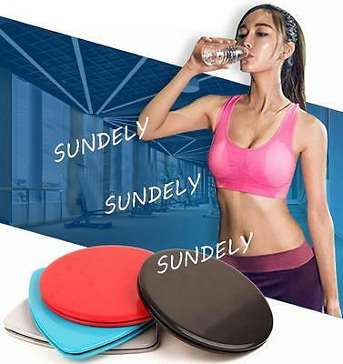 1 Pair Gliders Slide Discs Core Sliders AB Workout Gym Exercise Training Fitness