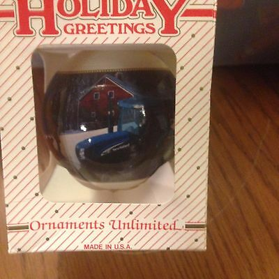 New Holland Tractor Christmas Tree Ornaments-2005