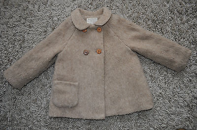 Girls ZARA Beige Winter Coat. 2-3 Years