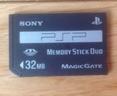 32MB GENUINE Sony Memory Stick Duo for PSP console cybershot camera Magicgate