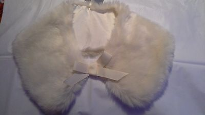 Next Girl,s  7-10 Year Old Cream Lined Faux Fur Collar Bnwt.