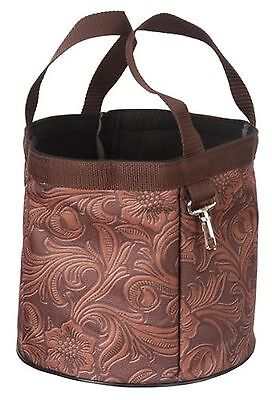Tough-1 Final Touches Grooming Caddy - Tooled Leather Print Brown