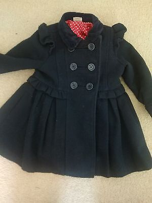 boots miniclub girls 2-3 navy gorgeous coat good condition