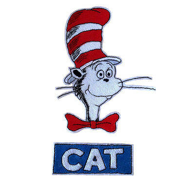 Embroidered Dr Seuss The Cat In the Hat Iron & Sew On Patch Patch