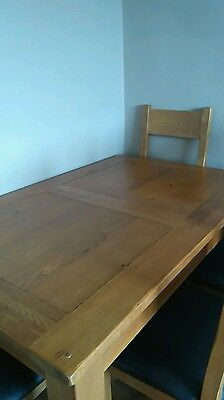 Oak Dining Table 4 Chairs Harvey's  Toulouse extending solid wood VCG
