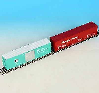2 Bachmann HO Gauge Boxcar Reefer Great Northern GN 200175 Triangle Pacific 28