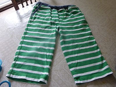 Boys boden stripped green shorts age 12 years