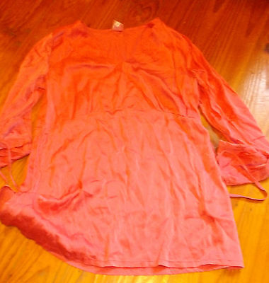 Maternity Top-Silky Coral-Size 2-Made In Australia-Mbc