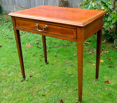 VICTORIAN. Desk or Side Table with Castors and Drawer.  c1890 - 1910.