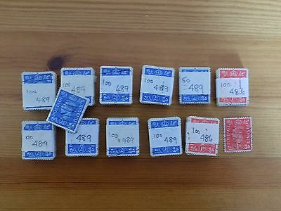 Over 1000 (approx 1941) GB Stamps