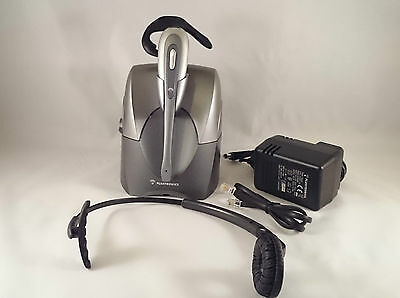 Plantronics CS60 Wireless Call Telephone Headset System & ( HL10 Auto Lifter New