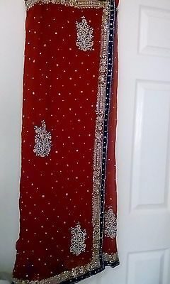 Indian heavy work fancy sari for wedding and parties