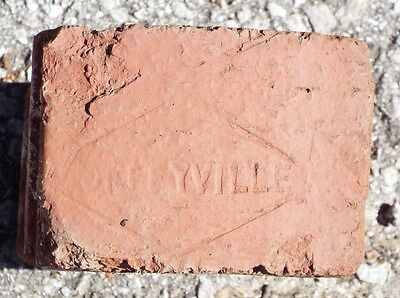 "Vintage Brick - ""COFFEYVILLE"" - Diamond on end of brick"