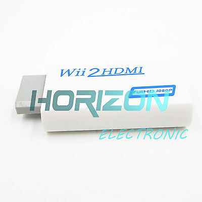 Wii to HDMI Wii2HDMI 720p/1080P Upscaling Converter Adaptor +3.5MM