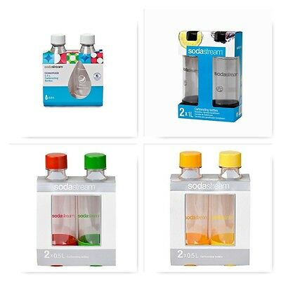 2 SodaStream Carbonating Bottles 0.5 Liter 0.5L (Twinpack) UPS Fast Shipping!