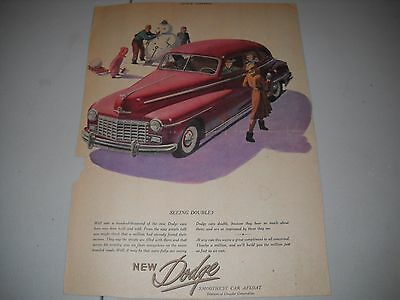 Vintage Dodge 1947 Original Print Advertisement