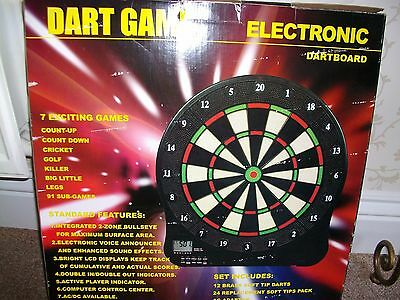 Electronic Dartboard and Accessories. Wall Mountable.
