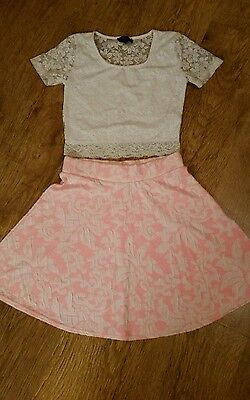 Girls Skater skirt & Top age 11-12  Excellent condition