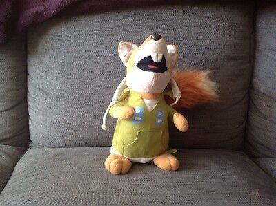 """Collectable 11"""" soft bodied Basil Brush From The TV Show Boom Boom"""