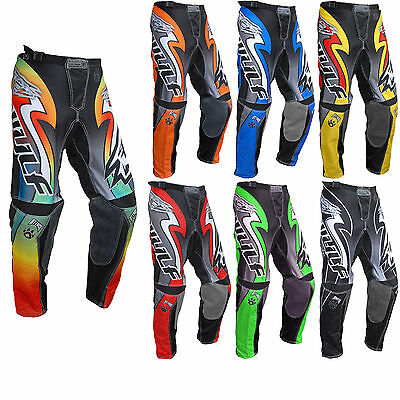 Wulf Attack Adult Motocross Jeans Off Road MX Motocross Pants Wulfsport Enduro