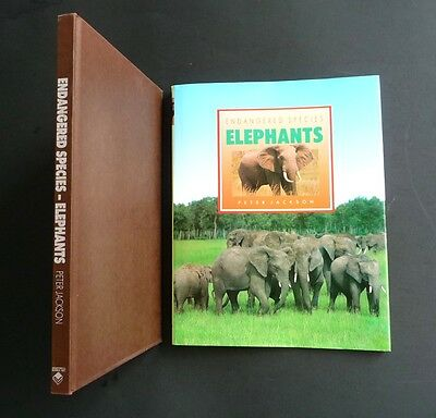 ELEPHANTS • Endangered Species • Color Photographic Biography; Full Perspective