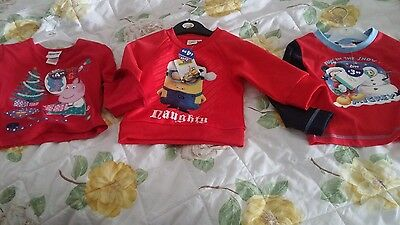 3 christmas tops new with tags baby 18 -24