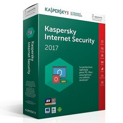 Kaspersky Internet Security 2017 3 Postes / 1 An