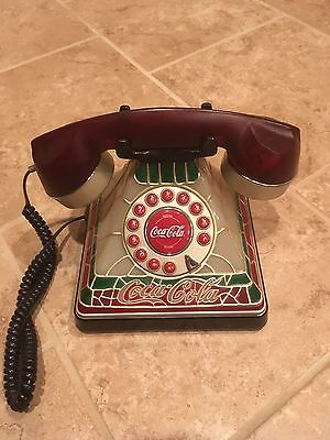 Vintage Coca-Cola Tiffany Stained Glass Phone