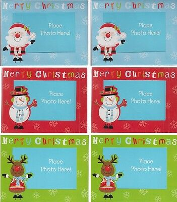 Pack Of 6 Make Your Own Cute Character Photo Christmas Cards With Envelopes