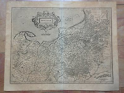 Poland Lithuania Russia 1613-1619 Mercator Hondius Large Copper Engraved Map