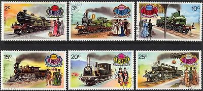 Liberia Stamps 1973 Historical Railways 1895-1905 Set of 6 Very Fine Used