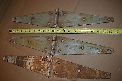 3 large Farm house Barn door Gateway iron Hinge hinges antique