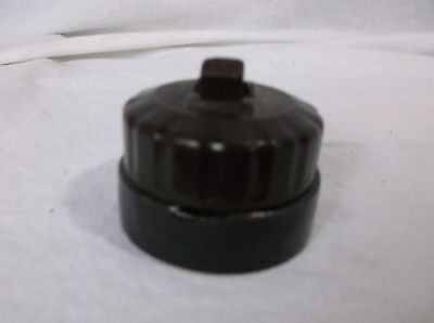 Antique Early BAKELITE 1900's On Off  Switch Round FEDERAL  surface MOUNT