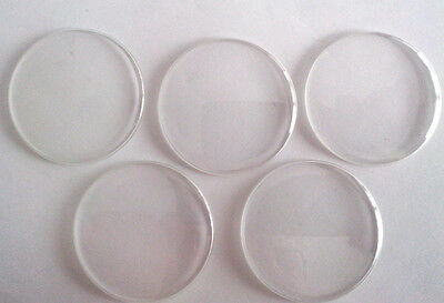 Lot of 5 Pocket Watch plastic glasses 430 for - MOLNIA 3602 Railroad Wolves Ship
