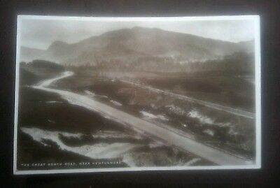 Vintage/Old Postcard -+-+-+-+-  The Great North Road, near Newtonmore