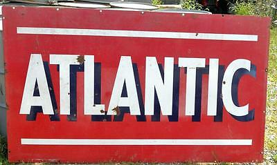 Rare Vintage Atlantic Gasoline Porceline Station Sign