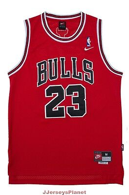 Throwback Swingman Basketball Jersey MICHAEL JORDAN 23 Chicago Bulls Red Youth