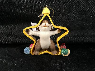Fitz & Floyd Charming Tails Your Cut Out to Be A Star Ornament NIB