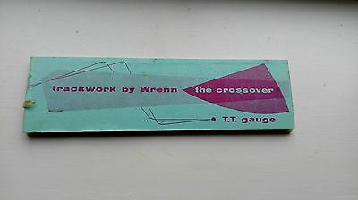 Wrenn TT gauge Crossover point work