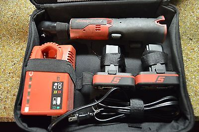 "Snap-On 1/4"" 14.4V Cordless Ratchet Kit, 2 Batteries, Charger #ctr725"