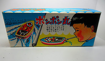 "New/Other Old Japanese Tinplate Candle-Power ""Pop Pop"" Boat Toy - Imported Boxed"