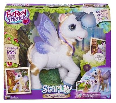FurReal Friends Star Lily My Magical Unicorn Interactive Toy ~ Brand New In Box!